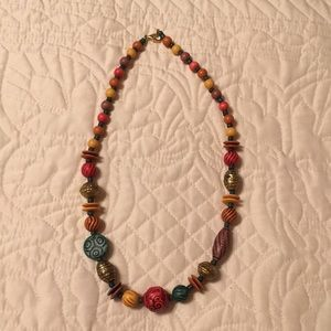 "Vintage wooden beads 24"" long"